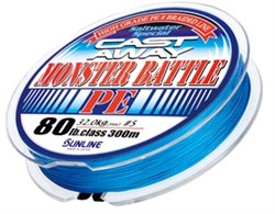 Шнур SUNLINE Monster Battle PE 300м 0.285mm 21 kg - фото 13067
