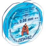 Леска мононить Mikado EYES BLUE ICE 0,08 (50 м) - 1.20 кг., цвет «светло-синий»