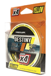 Шнур плетеный FWx4 DESTINY YELLOW 0.16 LB13  6kg